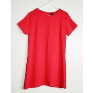 Red Straight Line Dress